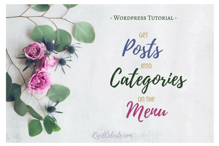 How to Add Posts to Categories on Your Menu