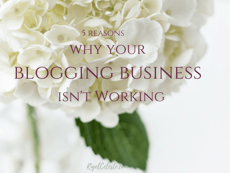 5 Reasons Why Your Blog Isn't Taking Off