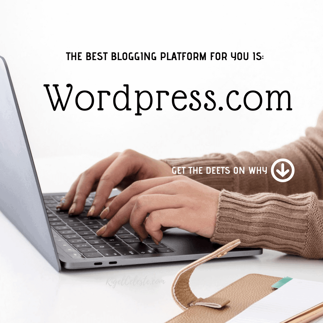 The best blogging platform for you is WordPress.com - woman's hands typing on keyboard