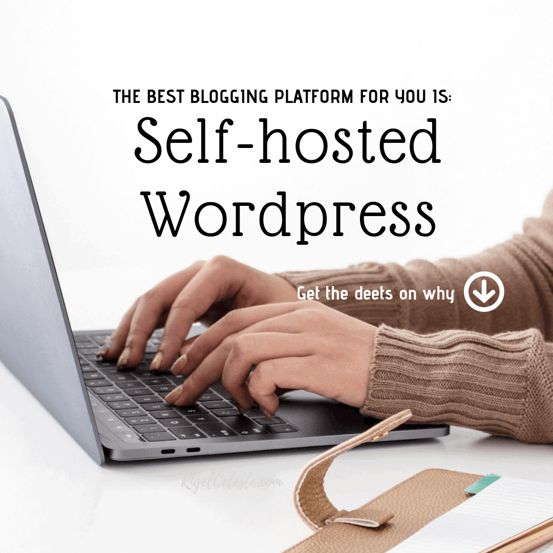 woman typing on keyboard, best blogging platform is self-hosted wordpress